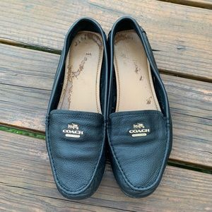 Rare Vintage Black Coach Leather Loafers 8.5